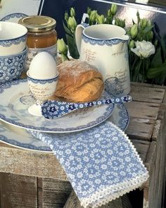 french blue and white..vintage rustic + country + home