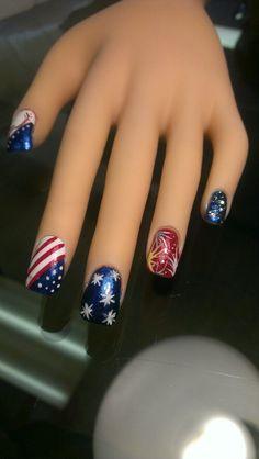 Fourth of July nail art sampler