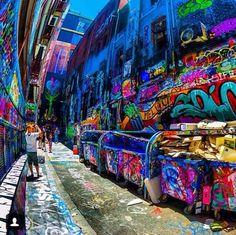 Graffiti lanes Melbourne, Australia