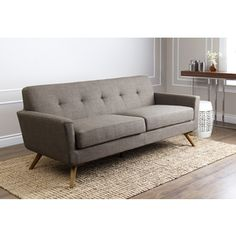 Shop for ABBYSON LIVING Bradley Khaki Tufted Fabric Mid-century Style Sofa. Get free shipping at Overstock.com - Your Online Furniture Outlet Store! Get 5% in rewards with Club O!