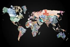 Two World Maps Created with a Country's Own Currency - My Modern Metropolis