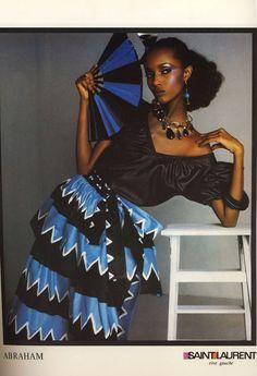 IMAN for YSL circa 1980 High Fashion 635386fc85b50