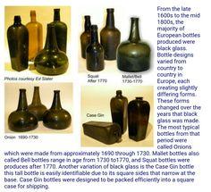 Antique Glass Bottles, Bottles And Jars, Glass Museum, Sea Glass Beach, Medicine Bottles, Altered Bottles, Black Glass, 18th Century, Pewter