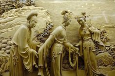 DongYang wood carving is the dying Chinese art that was arose in the century. It is well-designed form of break carving in the wood. Chinese Crafts, Chinese Art, Chinese Culture, Wood Carving Art, Wood Art, Wood Carvings, Statues, Colossal Art, Carving Designs