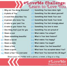 #LoveMe Challenge Learn to Love Yourself in February