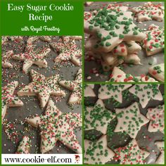 Easy Sugar Cookie Recipe with Royal Frosting from The Cookie Elf
