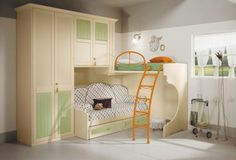 Fabulous Style of with Magnificent Modular Bedroom Interior grey White Wrdrobe Cabinets and others: Extravagant Wooden Style Wardrobe Bunk Bed For Kids On The Fabulous Style Of Modular Bedroom Furniture ~ 2-quick.com Bedroom Designs Inspiration