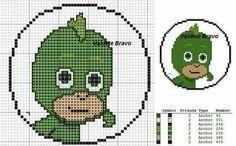 Pj max by valdete bravo Plastic Canvas Crafts, Plastic Canvas Patterns, Cross Stitch Designs, Cross Stitch Patterns, Pj Max, C2c Crochet Blanket, Crocheted Blankets, Stitch Cartoon, Perler Bead Art