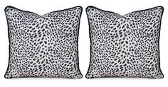 S/2 Leopard Path 20x20 Pillows, Navy | One Kings Lane