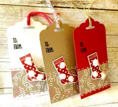 Stampin'Up! Hang Your Stocking bundle, gift tags, christmas, DIY
