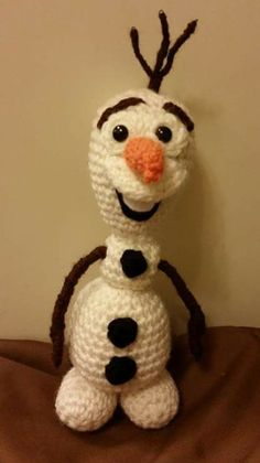 crochetted Olaf from Frozen