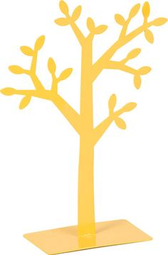 Cechy i korzyści: Wieszak na biżuterię w formie drzewa z liśćmi. Prosta forma i kolor. Pasuje do kolekcji Young Users, Evolve czy Magnolia. Dostępny w dwóch rozmiarach do wyboru. Kolor: Żółty