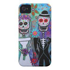 DIA DE LOS MUERTOS WEDDING iPhone 4 Case-Mate CASES