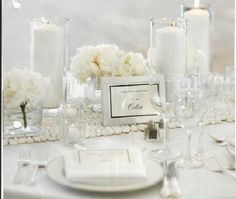 Nice Day for a White Wedding « Events to a T All White Wedding, Perfect Wedding, Our Wedding, Dream Wedding, 1920s Wedding, Chic Wedding, Wedding Blog, Wedding Reception, Wedding Stuff