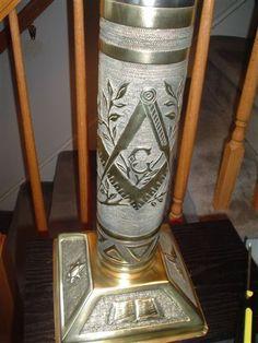 Masonic TrenchArt Lamp