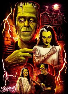Herman and Lily Munster by Samhain Horror Icons, Horror Films, Horror Art, Munsters Tv Show, The Munsters, Munsters House, Dark Fantasy, Fantasy Art, Star Trek Posters