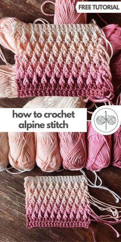 Crochet Stitches Patterns, Crochet Stitches For Beginners, Crotchet Patterns, Crochet Designs, Knitting Patterns, Different Crochet Stitches, Crochet Stitches For Blankets, Stitch Patterns, Knit Or Crochet