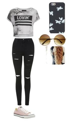 Meet and greet outfit by rileyyyyyyyyy on Polyvore featuring polyvore, fashion, style, Religion Clothing, Topshop, Converse and Marc by Marc Jacobs