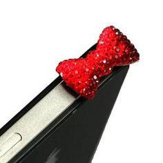 'Sparkle' Bow Anti Dust Plug Charm