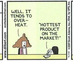 In marketing we tend to look on the bright side of product benefits! Online Marketing Tools, The Marketing, Business Marketing, Dry Humor, On The Bright Side, News Online, Comic Strips, Happy Friday, Sarcasm