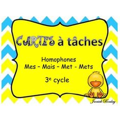 Cartes à tâches Les Homophones, Classroom Procedures, French Grammar, French Immersion, Cycle 3, Teaching Writing, Daily 5, French Language, Word Work