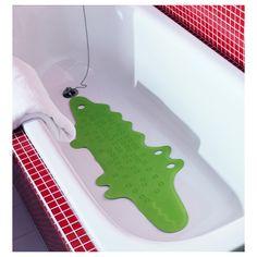 Vert Crocodile Caoutchouc Anti Glisse Mat Nouveau Mignon Réduit Le Risque Enfant Douche Baignoire