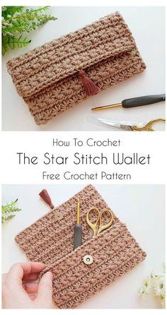 Diy Crochet Wallet, Crochet Clutch Bags, Crochet Case, Mode Crochet, Crochet Diy, Crochet Handbags, Crochet Purses, Crochet Cup Cozy, Free Crochet Bag