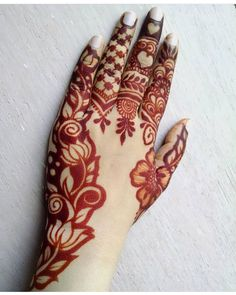 back hand bail mehndi designs for any type of festival or occasional event