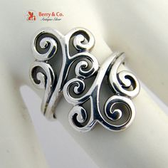 Ornate Scroll Ring Sterling Silver by BerrysGems on Etsy