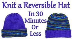 Knit a Reversible Hat on your Addi King Knitting Machine in 30 Minutes or Less / Yay For Yarn - YouTube Easy Knitting Patterns