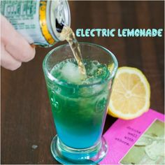 electric lemonade vodka blue curaçao lemon ginger ale