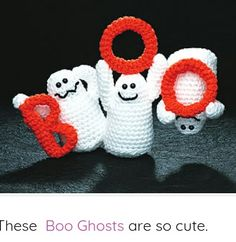 Crochet Amigurumi Patterns Halloween Ghosts free crochet pattern - Stand out from the crowd this year with this collection of Halloween Decoration Crochet Patterns which can get your decorating off to a fabulous jumpstart! Crochet Gratis, Crochet Patterns Amigurumi, Cute Crochet, Crochet Toys, Crochet Animals, Halloween Crochet Patterns, Crochet Patron, Holiday Crochet, Crochet Fall Decor