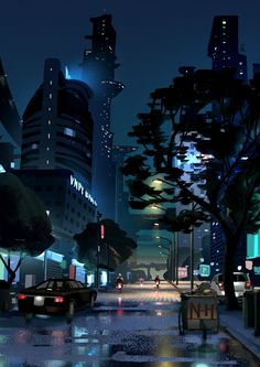 Sketch/ Night street after rain https://www.artstation.com/p/X2wWY Lê Long 2D artist, Hikergames -- Share via Artstation Android App, Artstation © 2017