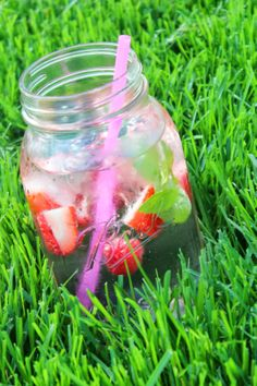 Mixed Berry Mint Infused Water