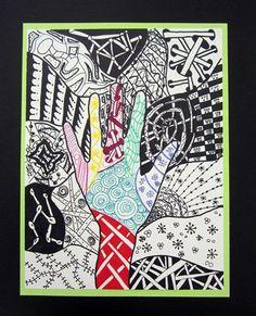 5th Grade-Zentangle Hand