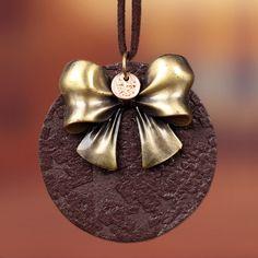 Изящных ювелирных изделий винтаж бантом кулон из натуральной кожи ожерелье женщины длинные ожерелья ожерелье ожерелья и кулоныкупить в магазине Aaron JewelryнаAliExpress