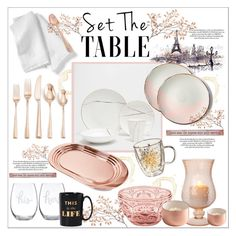 """""""Set the table with me"""" by kitty-kat9 on Polyvore featuring interior, interiors, interior design, dom, home decor, interior decorating, Cultural Intrigue, Fitz & Floyd, Sarah Cihat i Lenox"""