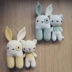 Cat and Bunny Rattle sets crochet project by Little Bear Crochets. Find more inspiration and share your Crochet projects on LoveCrochet.Com!