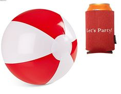 Black Friday Deal Inflatable Beach Balls Each Ball Measures Inches in Diameter Red and White Color Pack) with 2 Bonus Can Cooler Koozies from Rhode Island Novelty Cyber Monday Black Friday Toy Deals, Best Black Friday, Rhode Island Novelty, Beach Ball, Balls, Red And White, Cyber Monday, Color, Wedding
