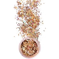 In Your Dreams Gold Lilith Chunky Glitter ($10) ❤ liked on Polyvore featuring beauty products, makeup, beauty, backgrounds, cosmetics, fillers, effect, detail and embellishment