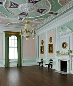 Inspired by Robert Adam. It will furnished as a dining room. Estilo Adam, My Doll House, Grandma's House, Adams Furniture, Adams Homes, Adam Style, Classical Architecture, Large Homes, Neoclassical