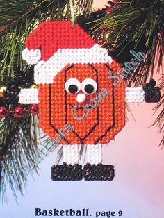 Free Plastic Canvas Charts | Plastic Canvas Pattern Sports Ball Christmas Ornaments | eBay