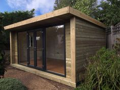 Expression 5x3m garden room, with 4m french door and window combination set in graphite, from £14,395 (inc. VAT).