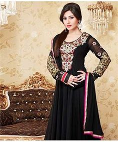 Georgette Suit with Dupatta and Lining | I found an amazing deal at fashionandyou.com and I bet you'll love it too. Check it out!