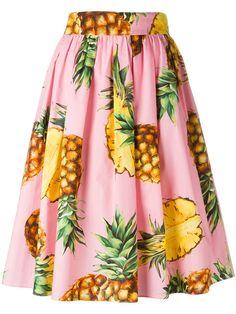 DOLCE & GABBANA Pineapple Print Skirt. #dolcegabbana #cloth #skirt