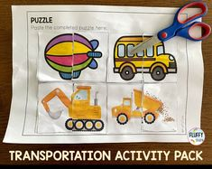 No time to prepare for fancy transportation activities? Just download & print this Transportation Activity pack, you will save so much time prepping. Lots of transportation theme fine motor activities for your preschool and kindergarten kids. Transportation Preschool Activities, Preschool Centers, Motor Activities, Business For Kids, Fine Motor Skills, Homeschooling, Literacy, Toddlers, Prepping