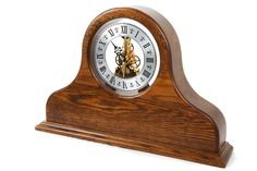 Contemporary Clocks, Modern Clock, Grandfather Clocks, Mantle Clock, Napoleon, Skeleton, Cherry, Handmade, Home Decor