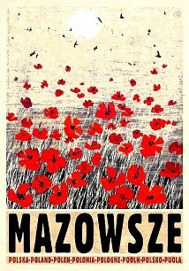 Ryszard Kaja - Mazowsze, polski plakat turystyczny
