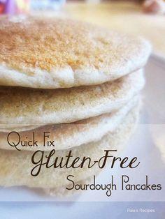 Quick Fix Gluten-Free Sourdough Pancakes, dairy-free, refined sugar-free