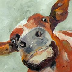 """Daily Paintworks - Saundra Lane Galloway, """"Cow Eye View"""""""